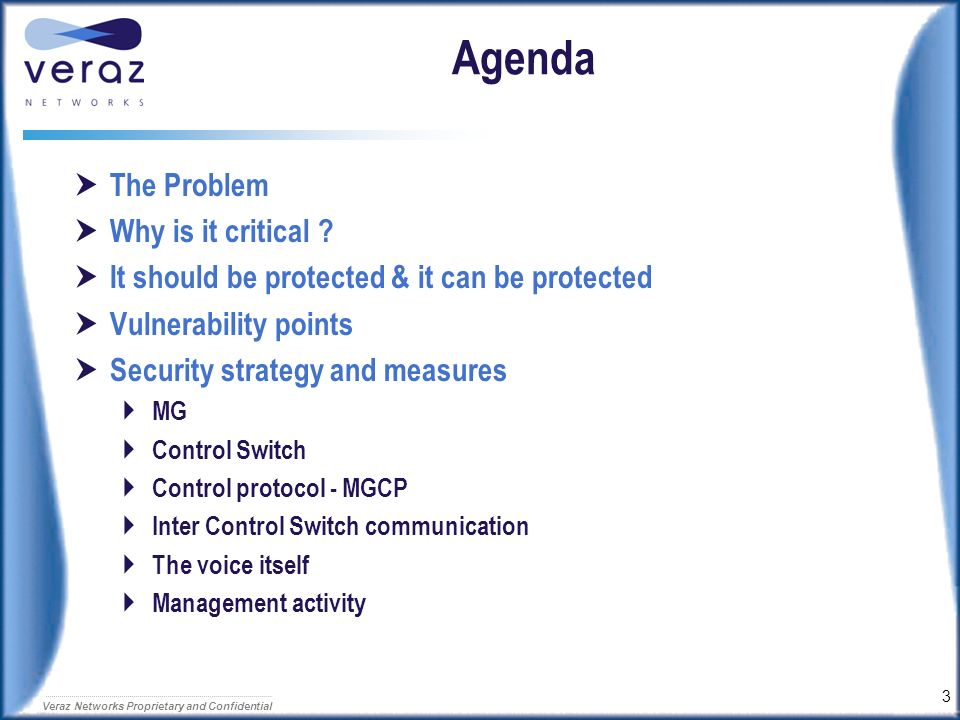 Agenda The Problem Why is it critical
