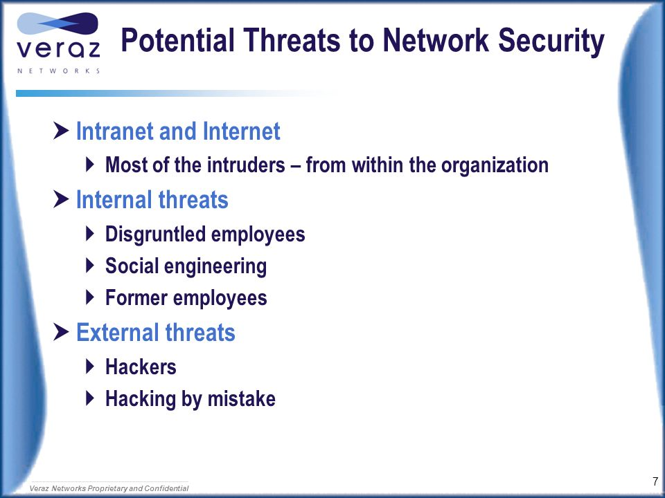 Potential Threats to Network Security