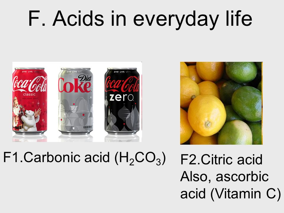 F. Acids in everyday life