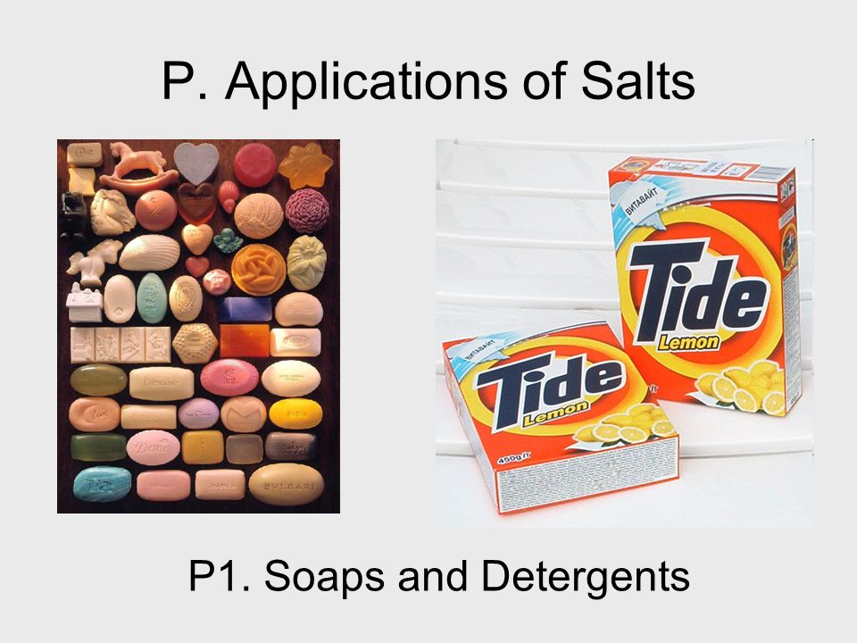 P. Applications of Salts