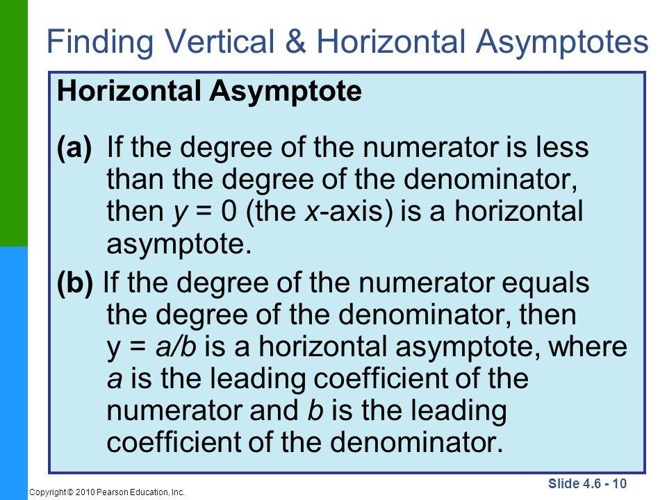 Finding Vertical & Horizontal Asymptotes