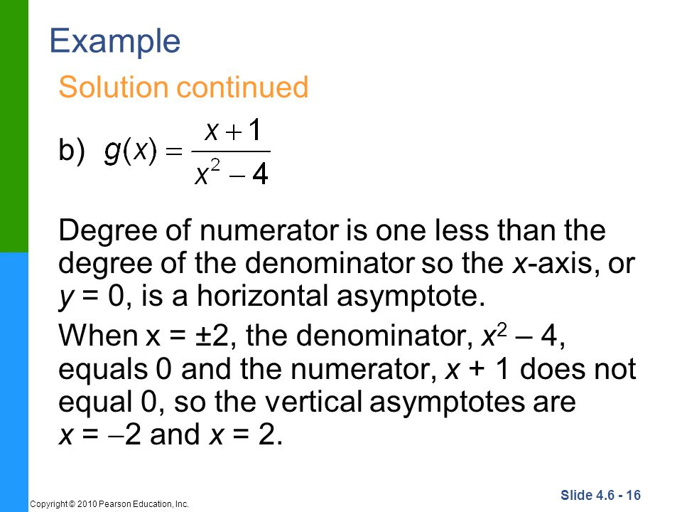 Example Solution continued b)