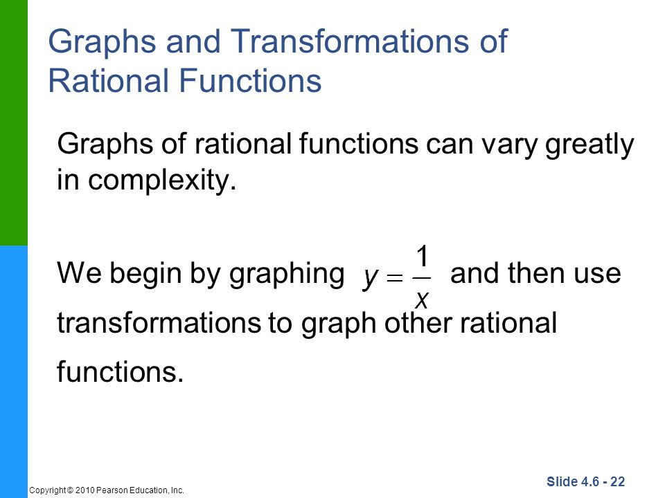 Graphs and Transformations of Rational Functions