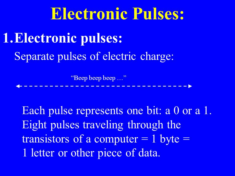 Electronic Pulses: Electronic pulses:
