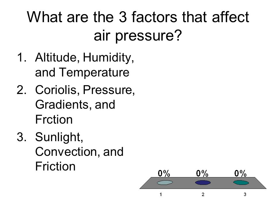 What are the 3 factors that affect air pressure