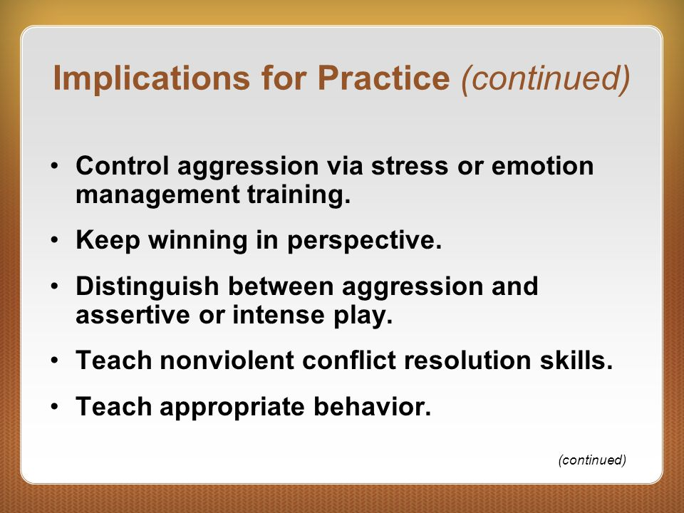 Implications for Practice (continued)