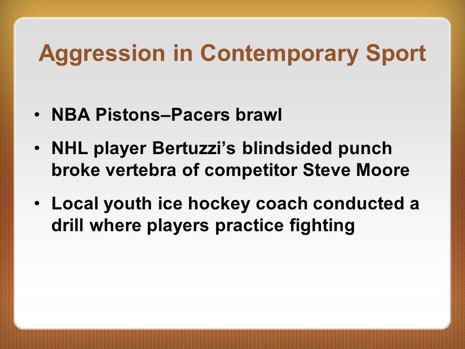 Aggression in Contemporary Sport