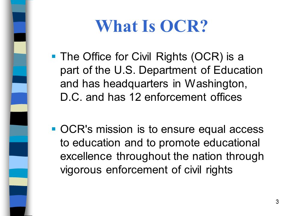 U.S. Department of Education Office for Civil Rights