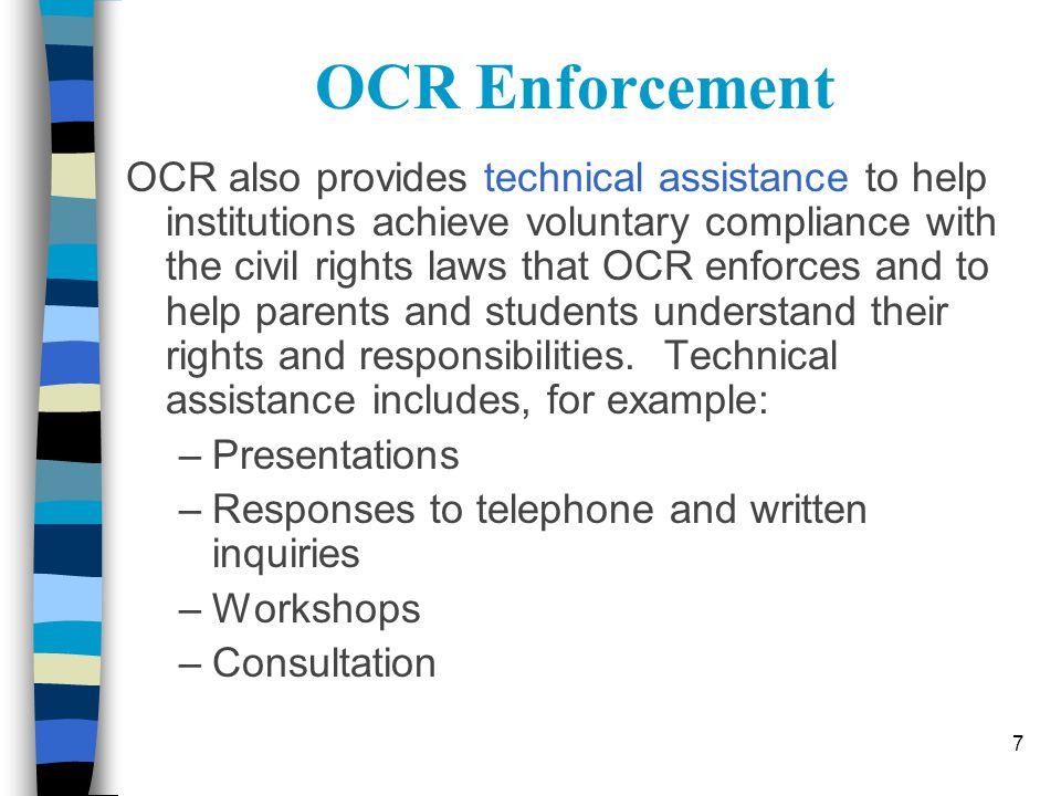 OCR Enforcement