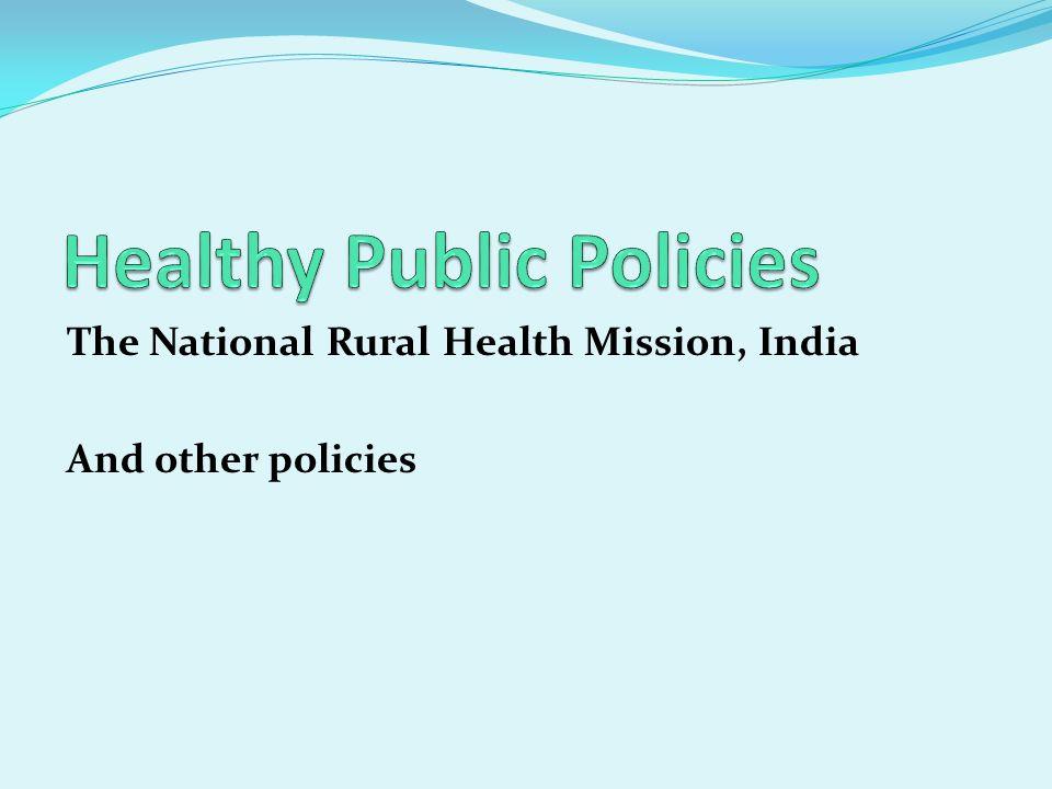 Healthy Public Policies