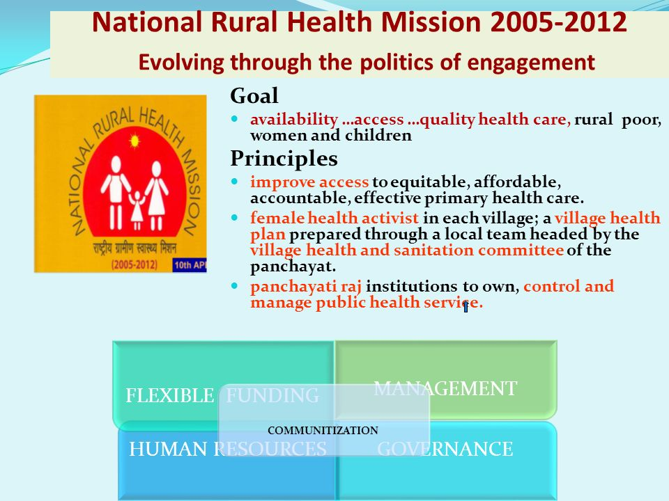 National Rural Health Mission 2005-2012 Evolving through the politics of engagement