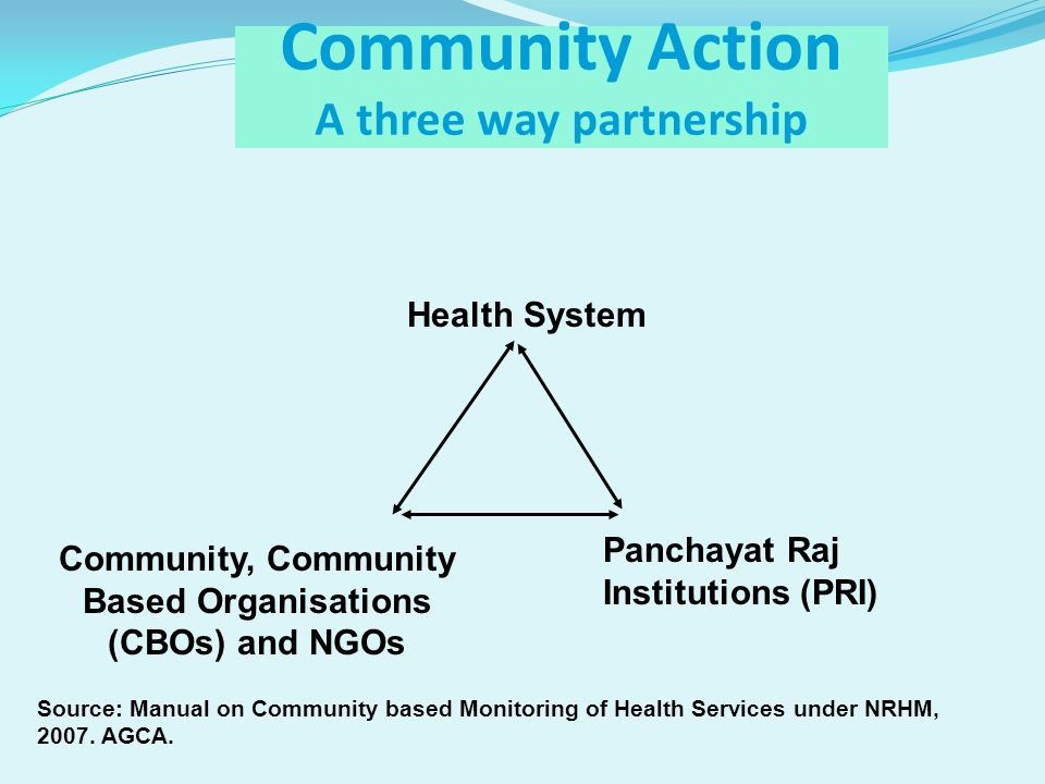 Community Action A three way partnership