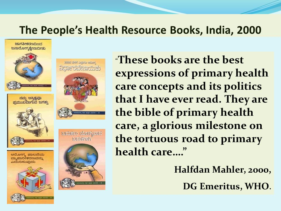 The People's Health Resource Books, India, 2000