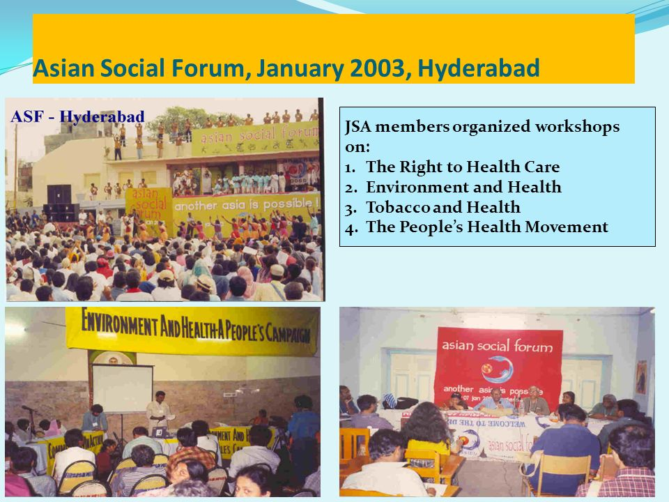 Asian Social Forum, January 2003, Hyderabad