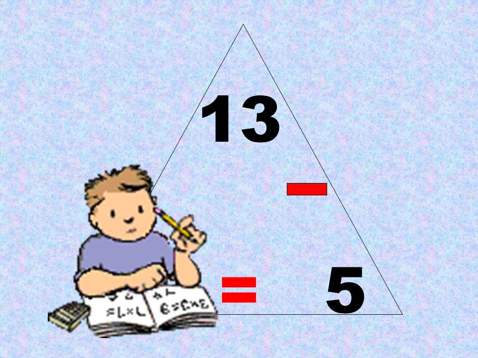13 8 = 5