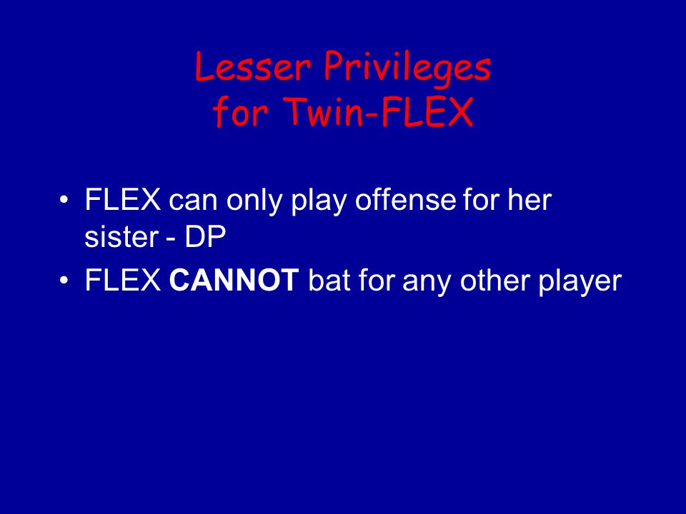 Lesser Privileges for Twin-FLEX