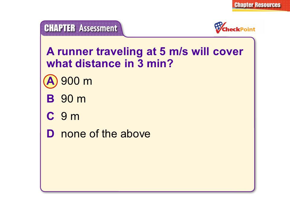 A runner traveling at 5 m/s will cover what distance in 3 min