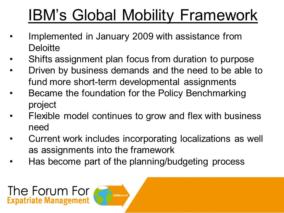 IBM's Global Mobility Framework