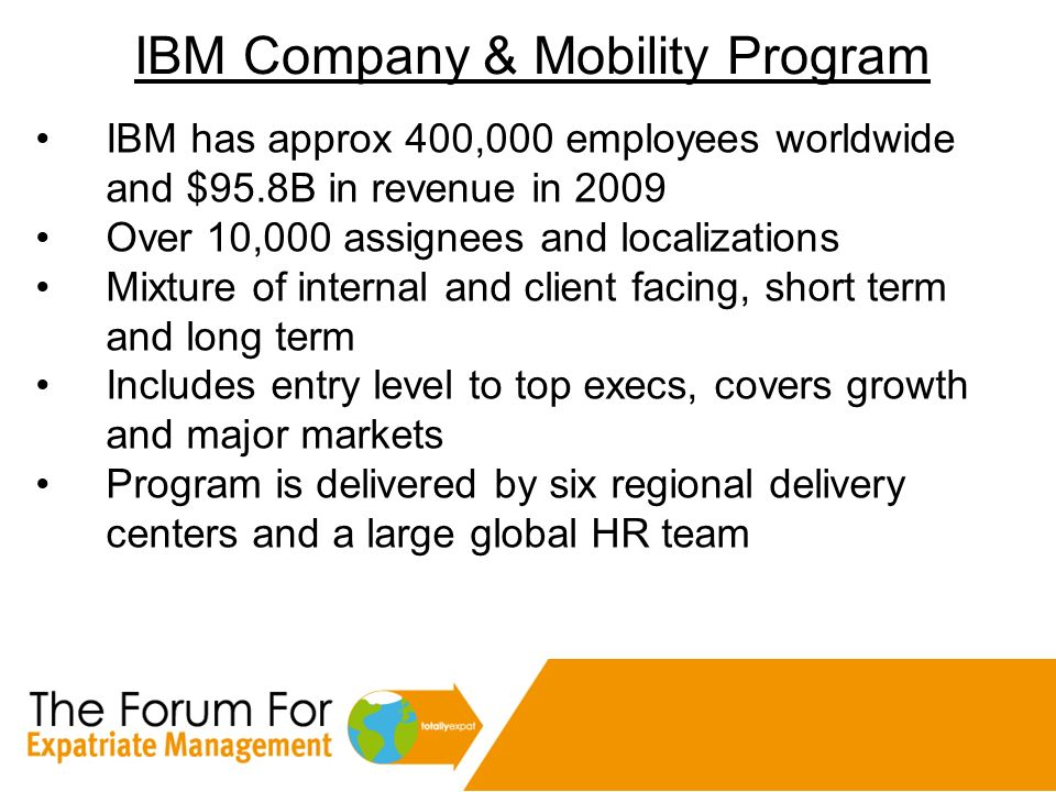 IBM Company & Mobility Program