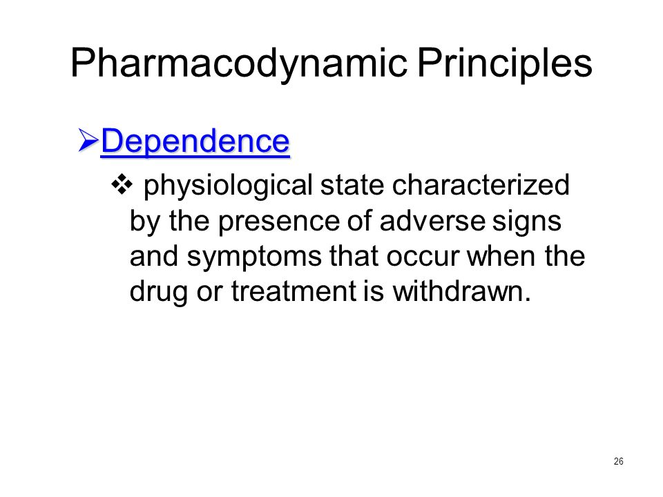 Pharmacodynamic Principles