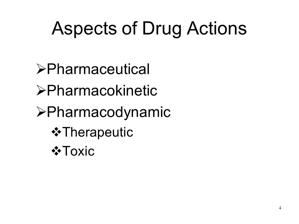 Aspects of Drug Actions