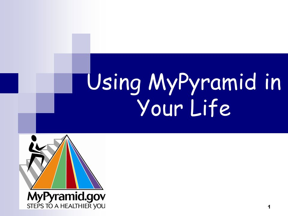 Using MyPyramid in Your Life