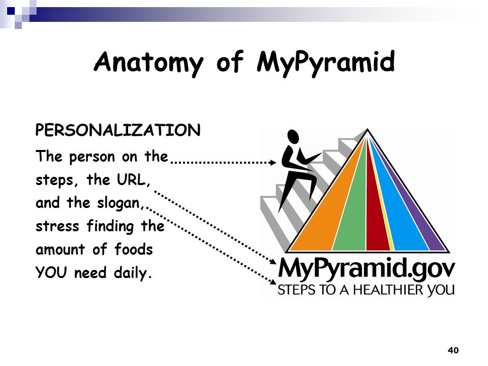 Anatomy of MyPyramid PERSONALIZATION