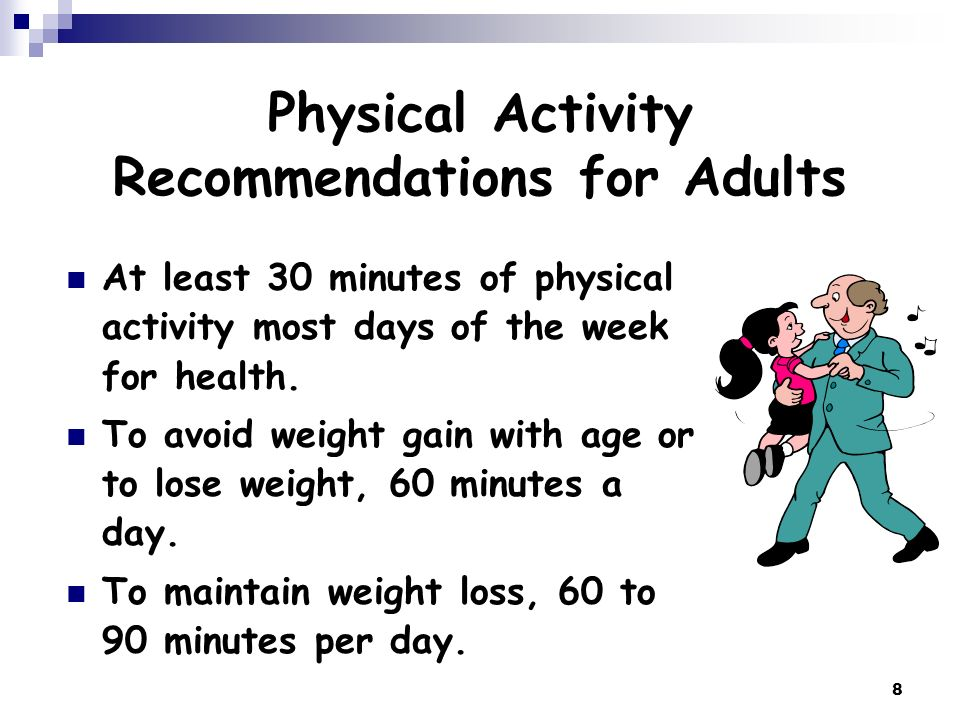 Physical Activity Recommendations for Adults
