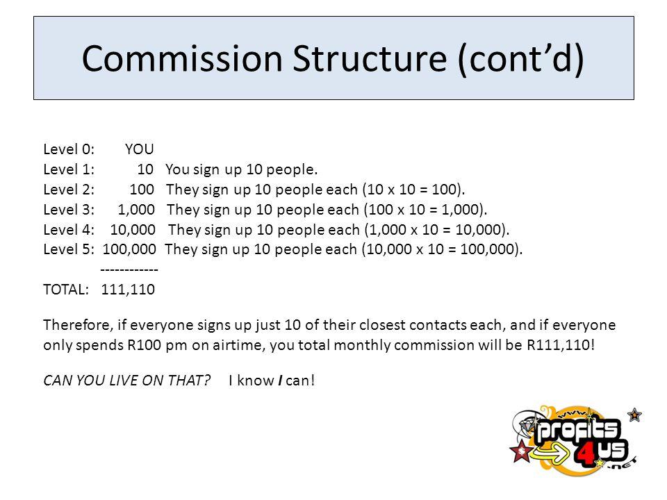 Commission Structure (cont'd)