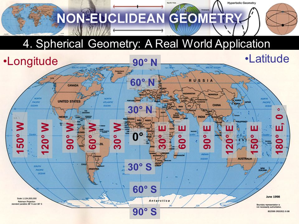 4. Spherical Geometry: A Real World Application Latitude Longitude