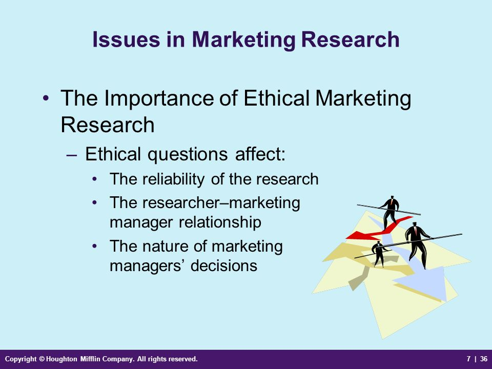 Issues in Marketing Research
