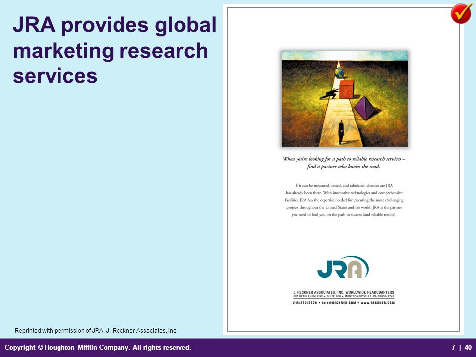 JRA provides global marketing research services