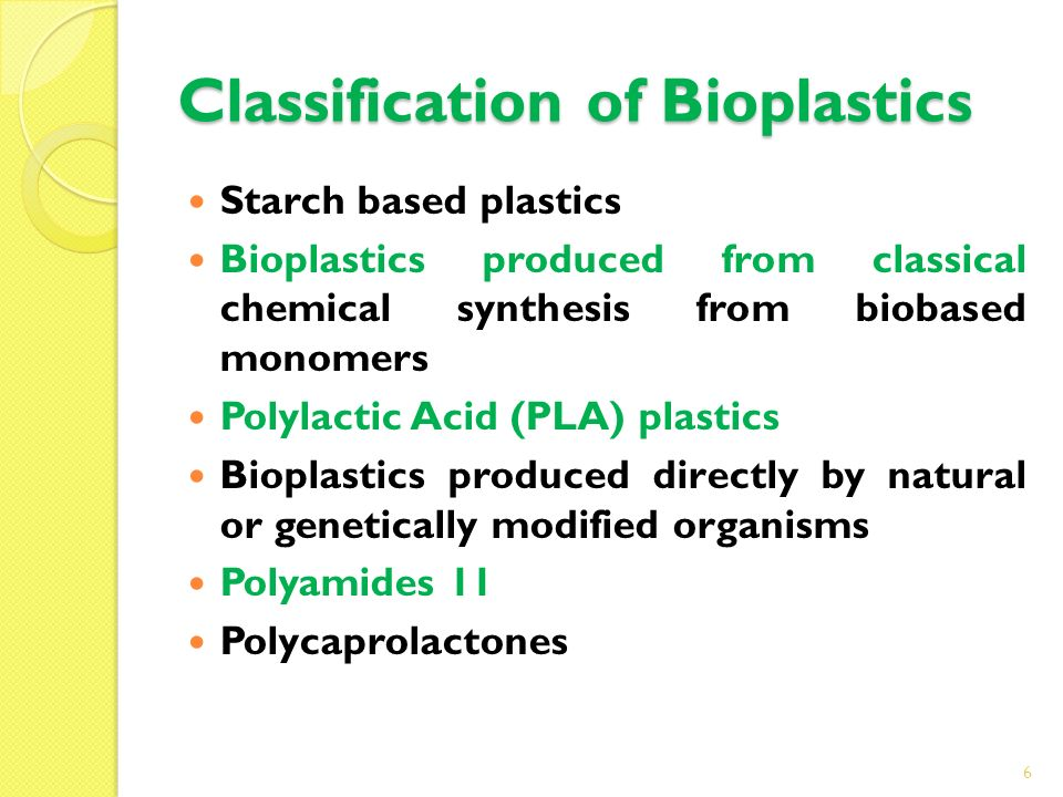 Classification of Bioplastics