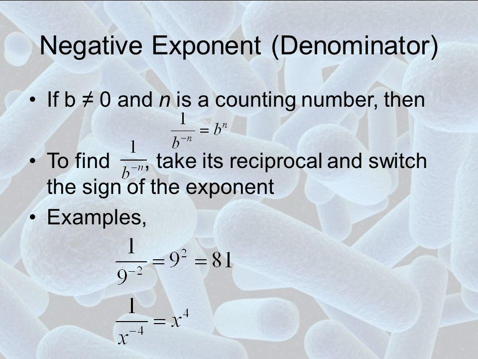 Negative Exponent (Denominator)
