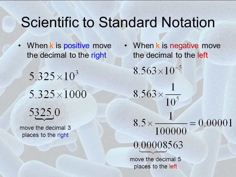 Scientific to Standard Notation