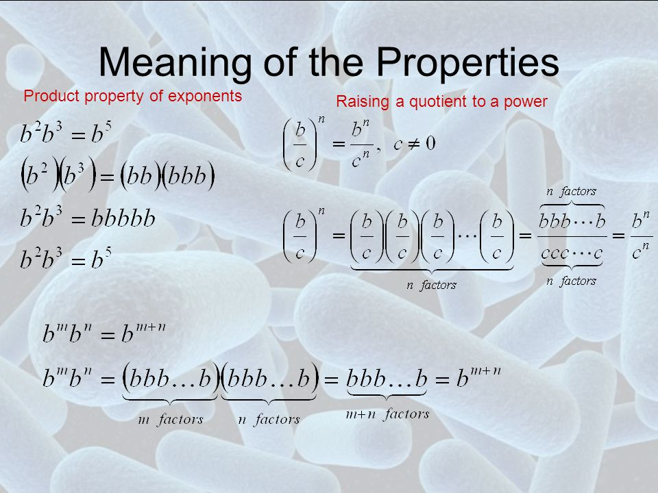 Meaning of the Properties
