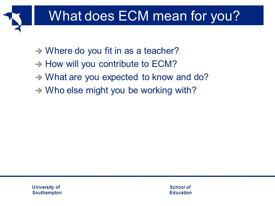 What does ECM mean for you