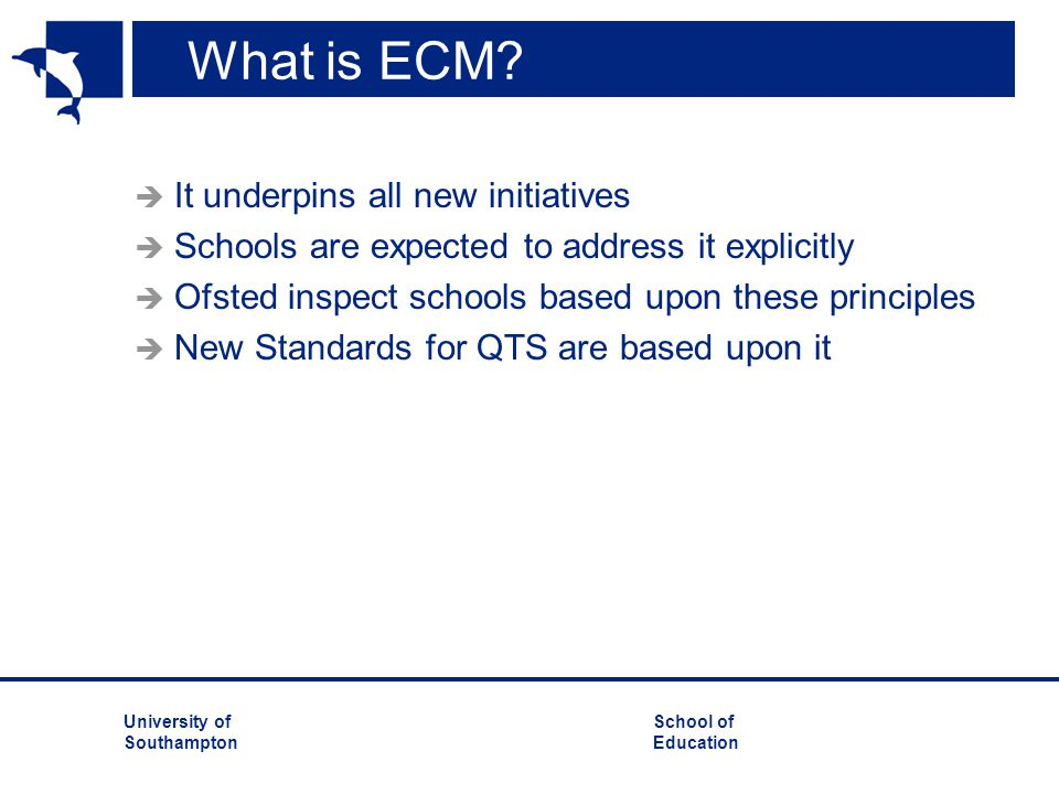 What is ECM It underpins all new initiatives