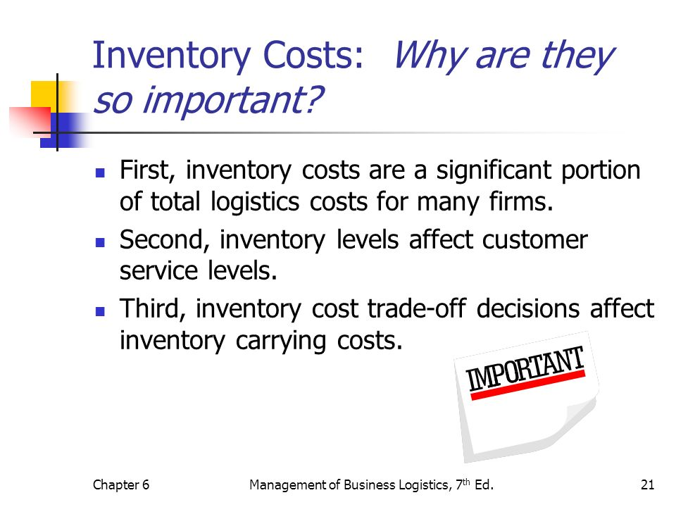 Inventory Costs: Why are they so important