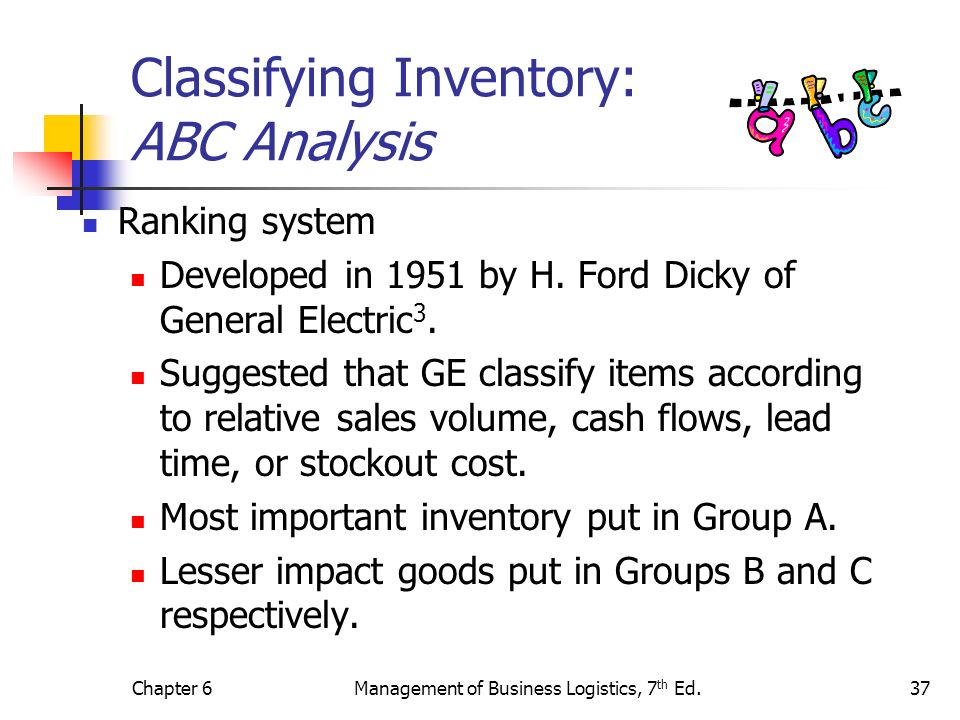 Classifying Inventory: ABC Analysis