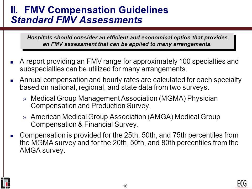 II. FMV Compensation Guidelines Standard FMV Assessments