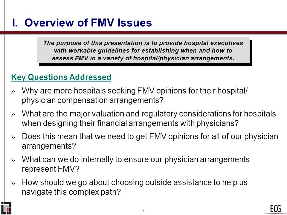 I. Overview of FMV Issues