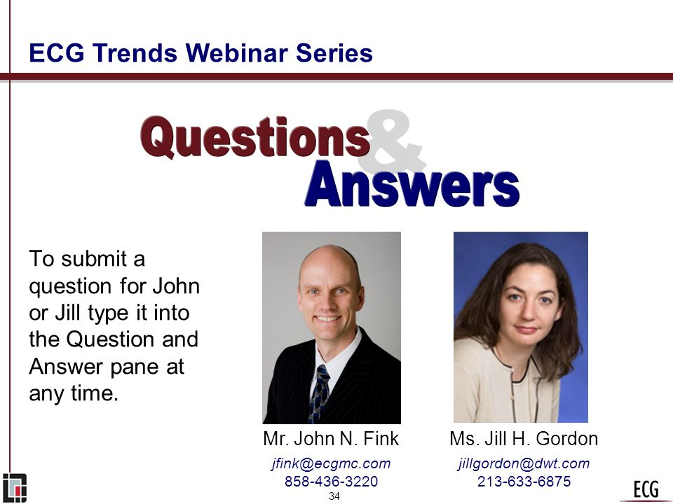 & Questions Answers ECG Trends Webinar Series