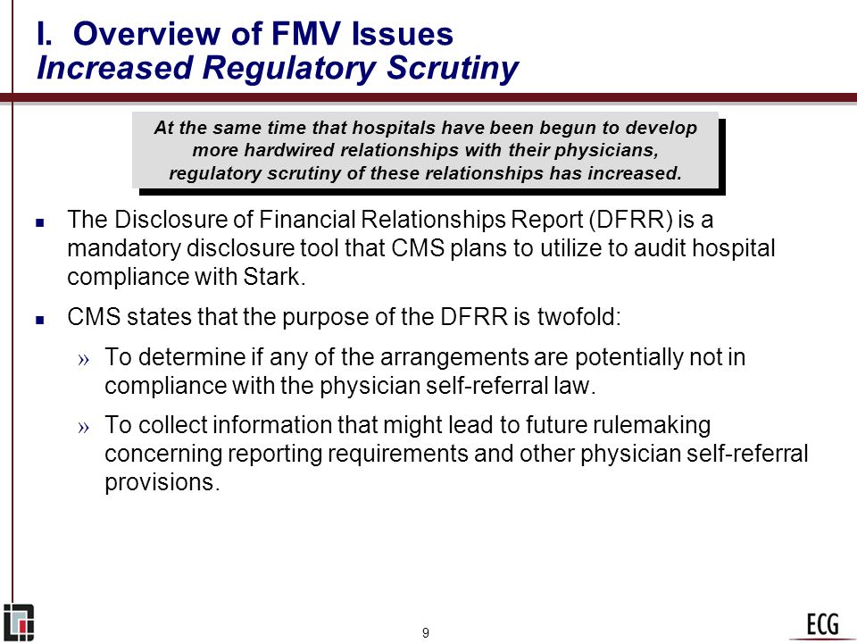 I. Overview of FMV Issues Increased Regulatory Scrutiny