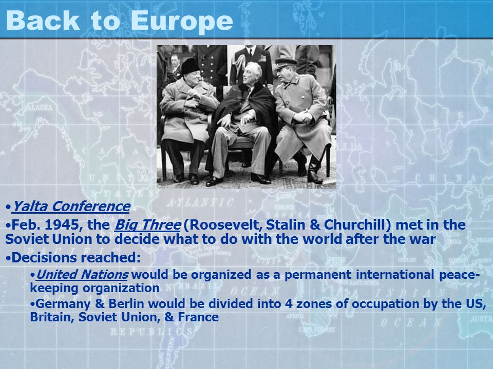 Back to Europe Yalta Conference