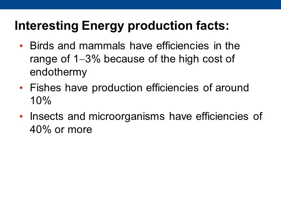Interesting Energy production facts:
