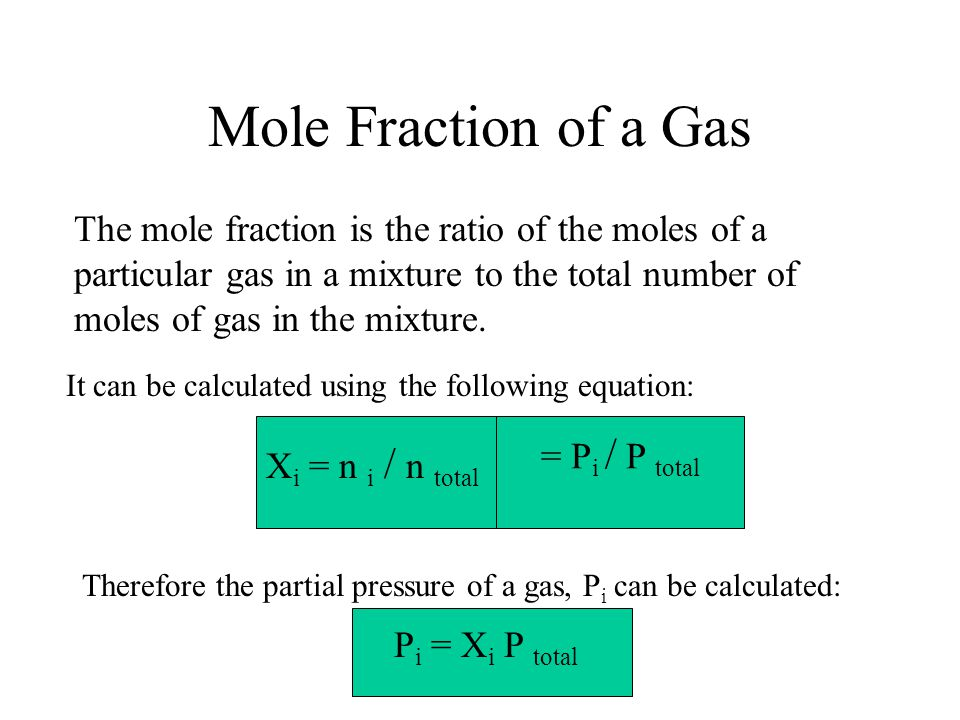 Mole Fraction of a Gas