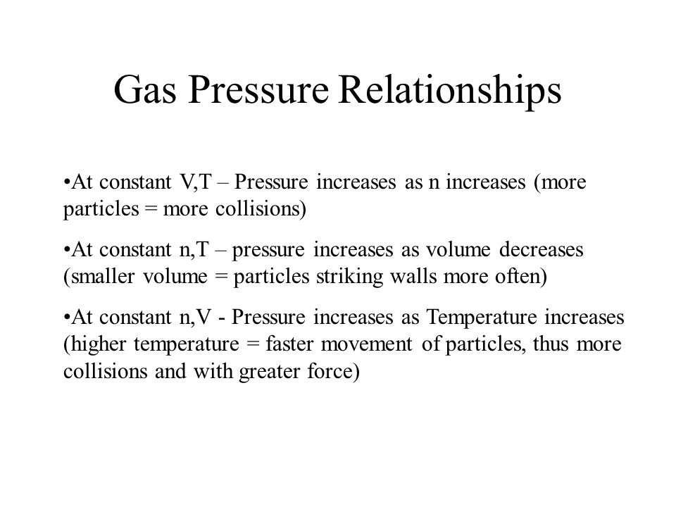 Gas Pressure Relationships