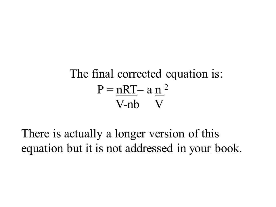 The final corrected equation is: