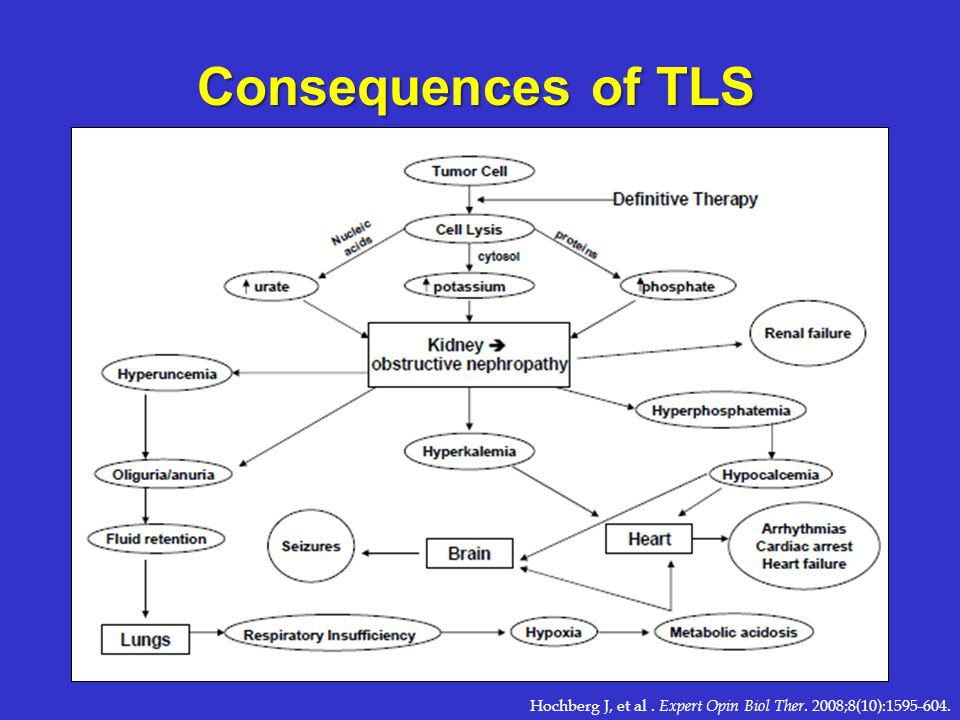 Consequences of TLS Hochberg J, et al . Expert Opin Biol Ther. 2008;8(10):1595-604.